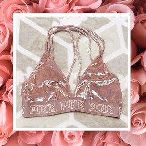 Victoria's Secret Pink strappy velvet bralette